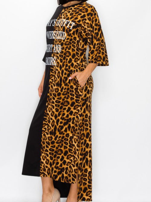 Todays Outfit Animal Print Maxi Dress