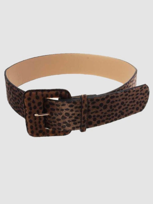 Brown Leopard Square Belt