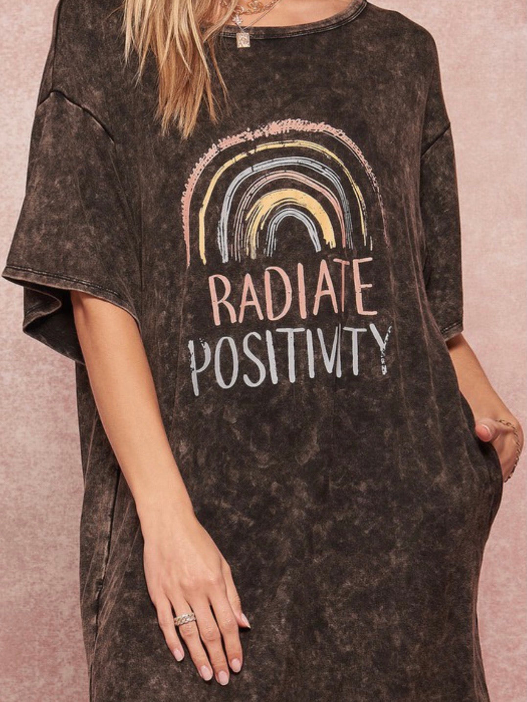 Radiate Positivity Shirt Dress