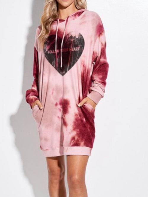 Vintage Heart Hoodie Dress