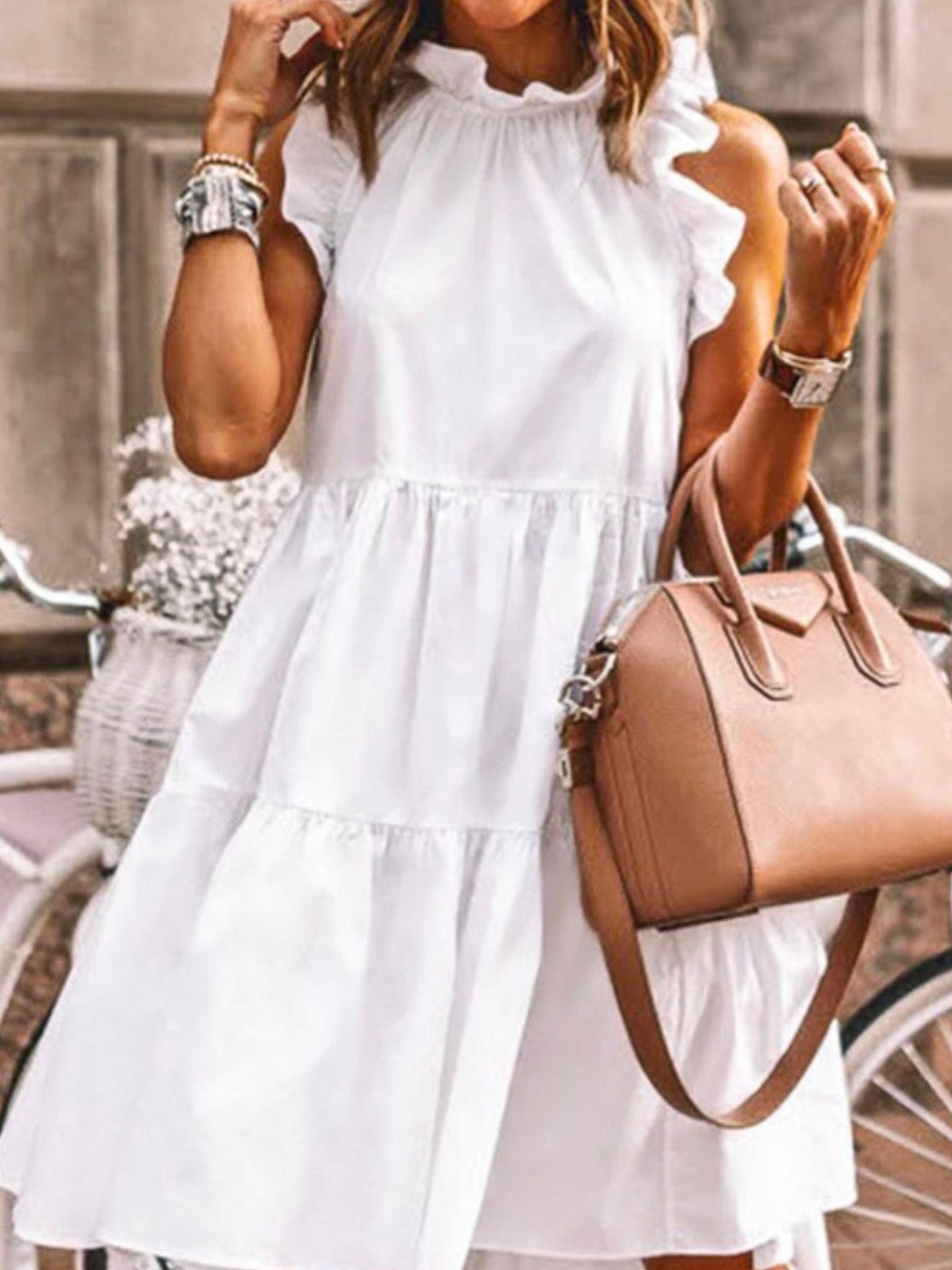 Elegant Tiered Ruffled Short Dress