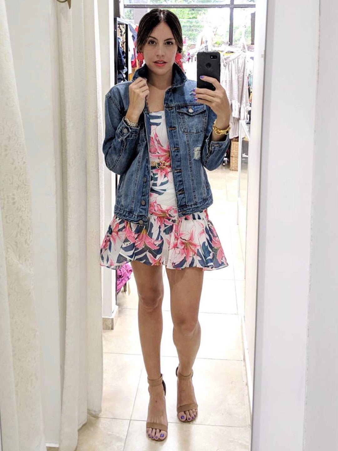 Floral Ruffles Mini Dress