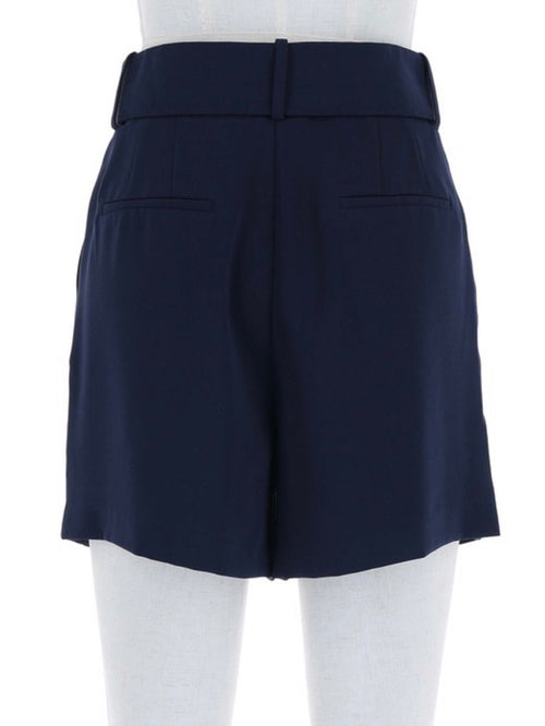 Navy Belted Shorts