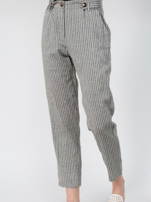 Button Tab Trousers