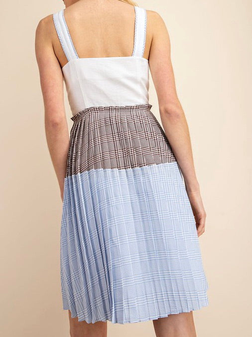Gingham Contrast Dress