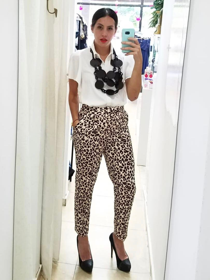 Leopard Pencil Pants