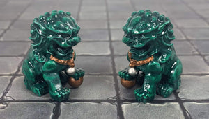 Forge Prints Unpainted Jade Lions