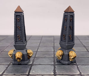 Forge Prints Unpainted Obelisk Set