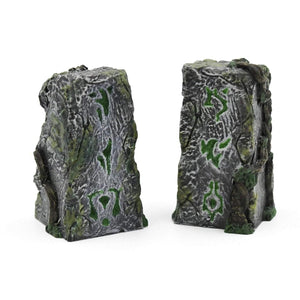 Galladoria Games Hand Painted / Green Runic Standing Stones