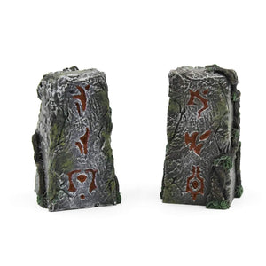 Galladoria Games Hand Painted / Red Runic Standing Stones