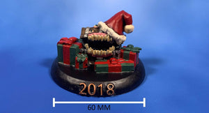 Galladoria Games Unpainted 2018 Christmas Mimic Collectible