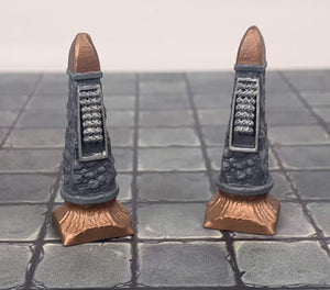 Galladoria Games Unpainted Poison Dart Pillars