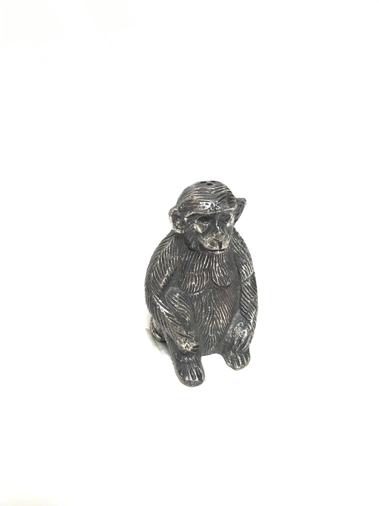 Salt & Pepper Sitting Monkey