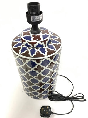 Patterned Ceramic Lamp Holder