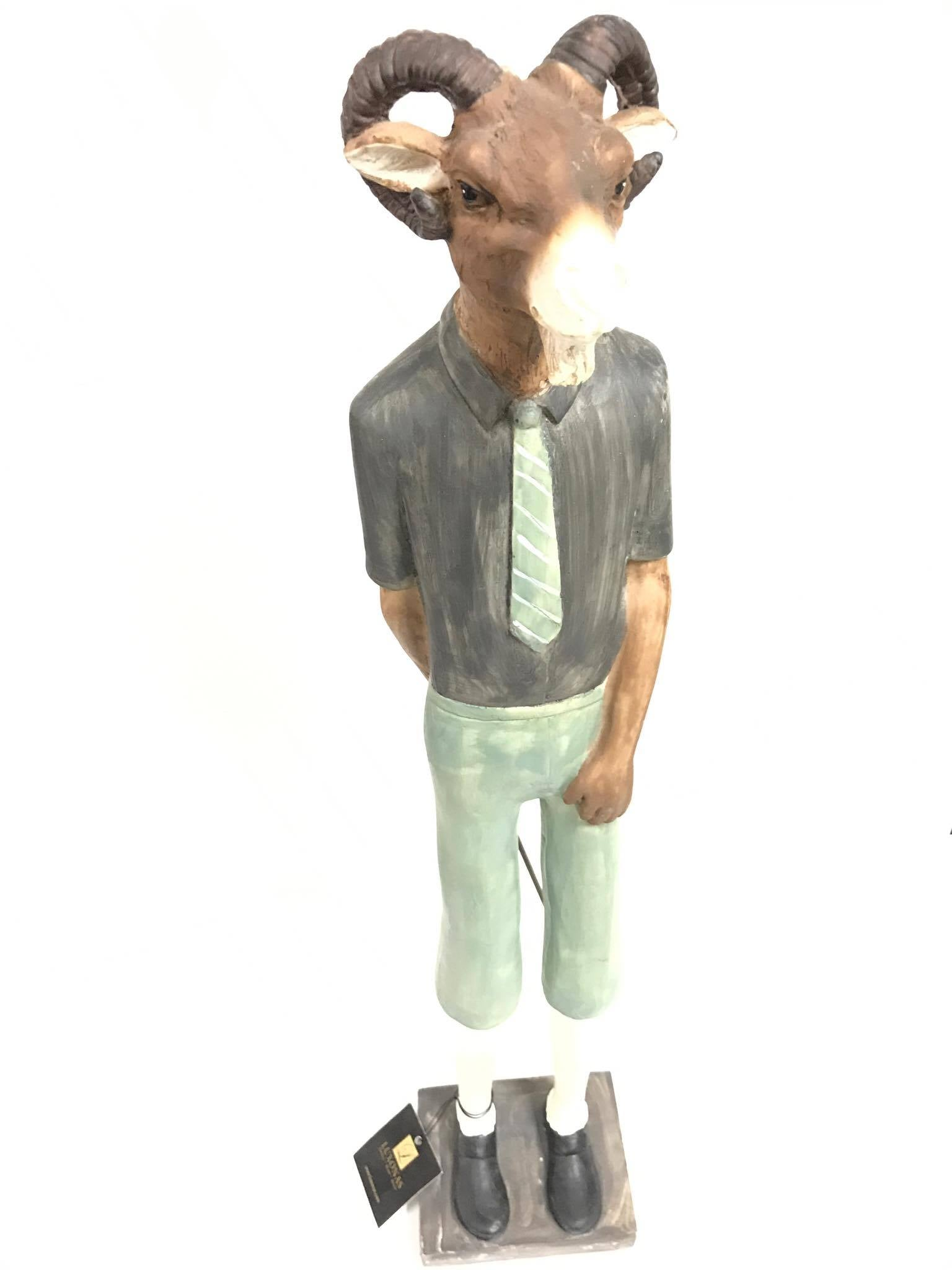 Resin Golf Goat