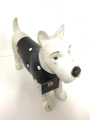 Terrier Dog with Sweater Statue