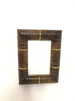 Burnt Bamboo Photo Frame