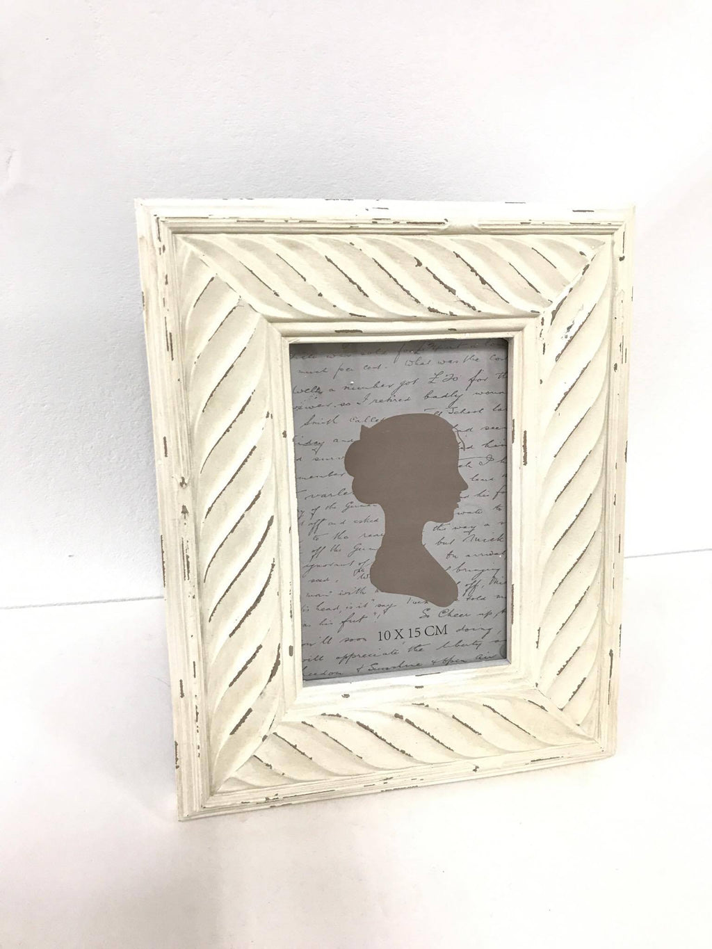 White Shabby Chic Photo Frame