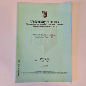 Secondary Education Certificate Examination Papers 2011 - Physics