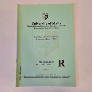 Secondary Education Certificate Examination Papers 2012 - Mathematics