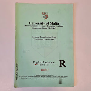Secondary Education Certificate Examination Papers 2012 - English Language