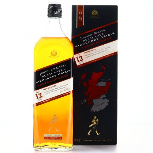 Johnnie Walker Black Label 12 Year Old Highlands Origin 1L