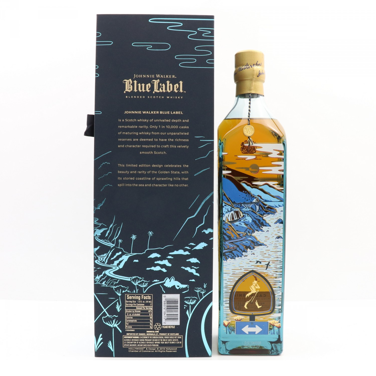 JOHNNIE WALKER BLUE LABEL CALIFORNIA EDITION 75CL