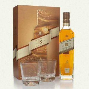 Johnnie Walker - 18 Year Old Gift Pack - 2 x Glasses - 18 year old Whisky