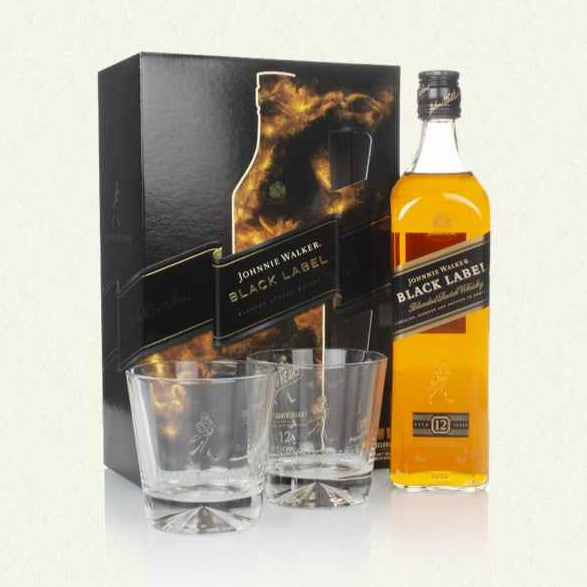 JOHNNIE WALKER Black LABEL LIMITED EDITION GIFTSET 70CL