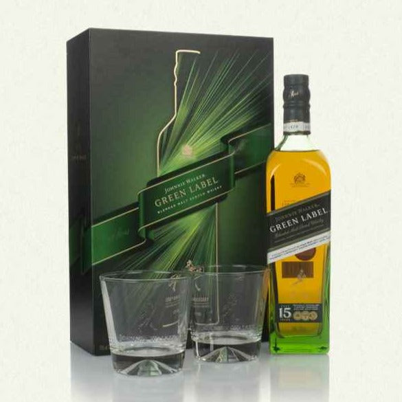 JOHNNIE WALKER GREEN LABEL LIMITED EDITION GIFTSET 70CL