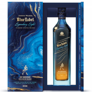 JOHNNIE WALKER BLUE LABEL GHOST & RARE LEGENDARY EIGHT 200TH ANNIVERSARY EDITION WHISKEY 0.7L