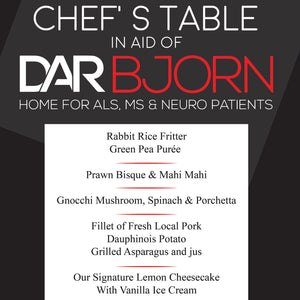 Chef's Table for DAR Bjorn