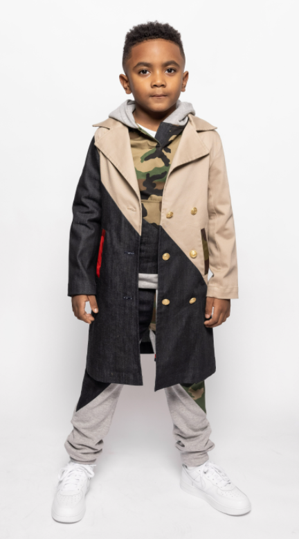 Royal Arm Two-Toned Trench