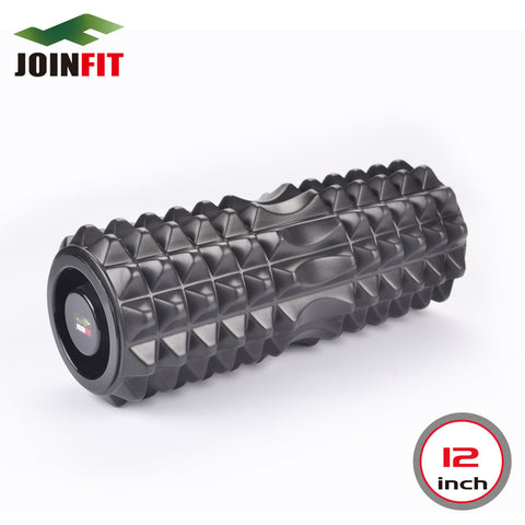 Foam Roller / Rumble Roller with Massage Acupressure Exercise Core Therapy Roll Tool with Bi-directional Zone for Spine Comfort
