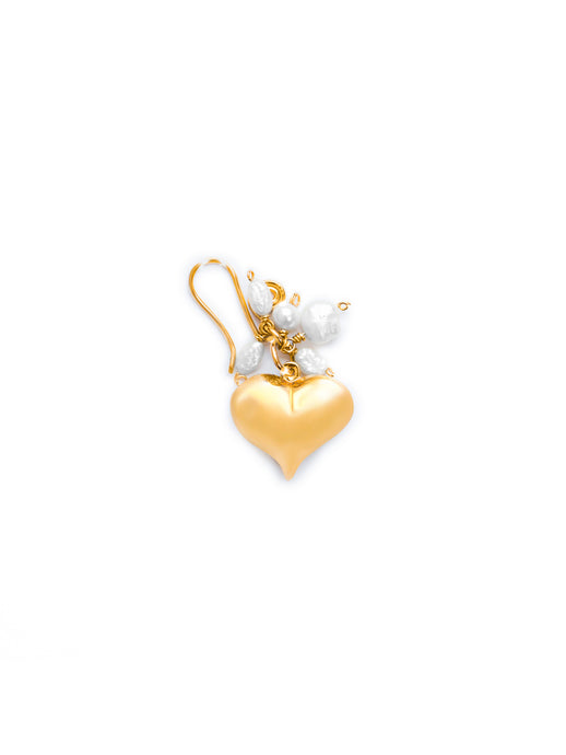 Pendant Hearts with pearls - Medium