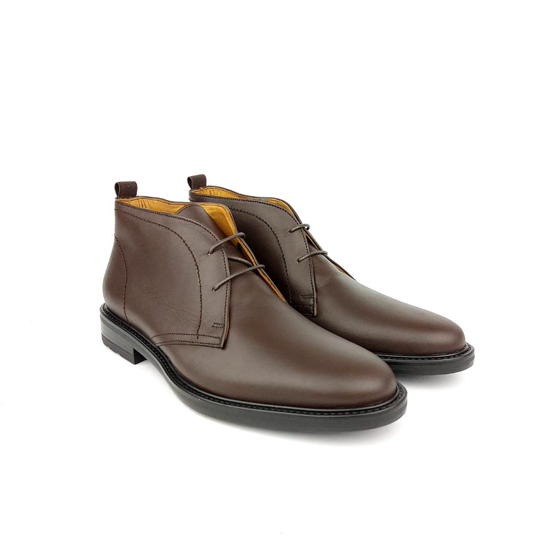 684S bottine en cuir marron