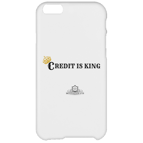 Credit Is King - White iPhone 6 Plus Case