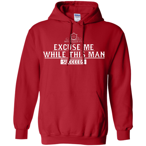 Excuse Me Man - Unisex Pullover Hooded Sweatshirt