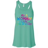 As A Woman I Can - Women's Racerback Tank Top