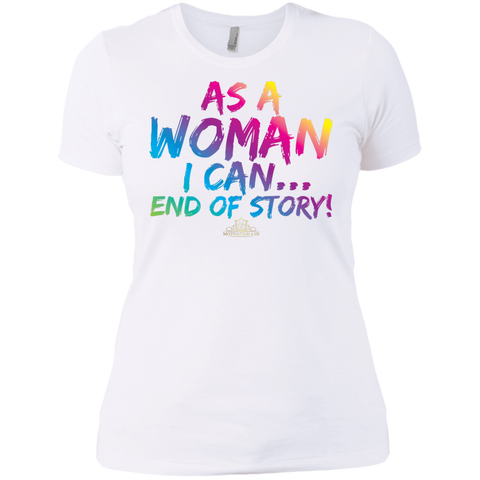 As A Woman I Can - Women's Crew Neck Boyfriend T-Shirt