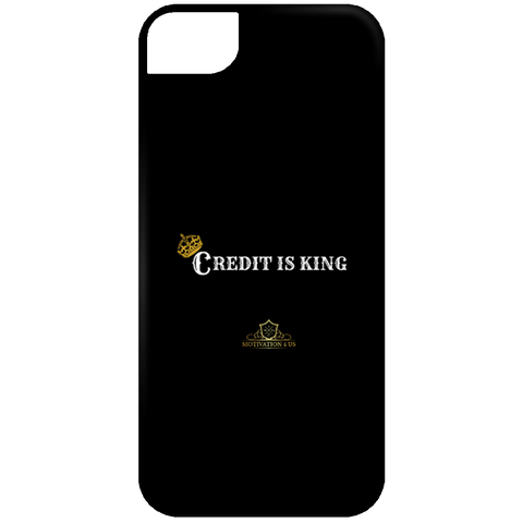 Credit Is King - Black iPhone 5 Case
