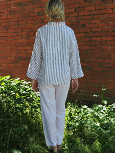 Striped Linen Jacket Valia