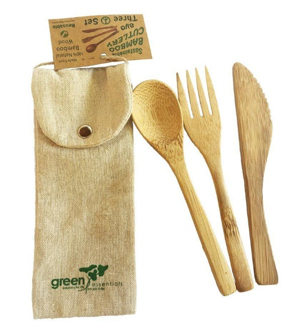 Bamboo Cutlery Set 3 Piece