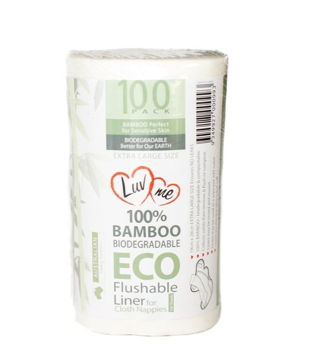 Bamboo Nappy Liners 100 - Biodegradable