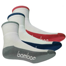 Load image into Gallery viewer, Bamboo Sports Crew Socks