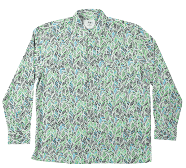 Long-Sleeve Bamboo Shirt - Green leaf