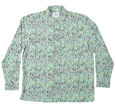Long-Sleeve Bamboo Shirt - Green leaf - Earth to Life