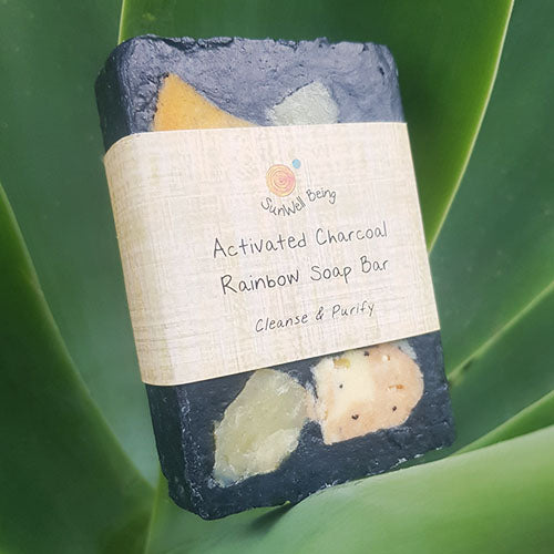 Activated Charcoal Rainbow Soap Bar - Earth to Life