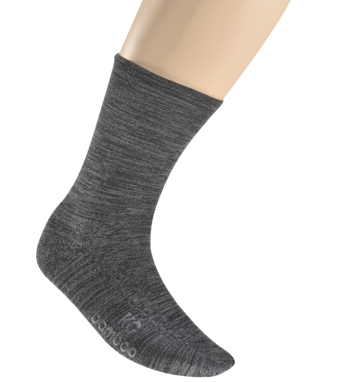Socks Bamboo Loose Top Business Charcoal