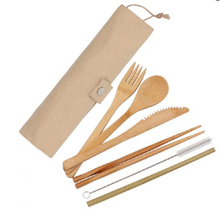 Load image into Gallery viewer, Cutlery Set - Bamboo